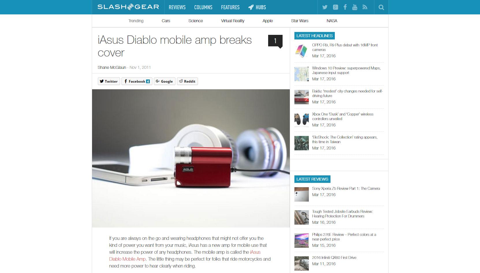 Diablo Mobile Amp on Slash Gear