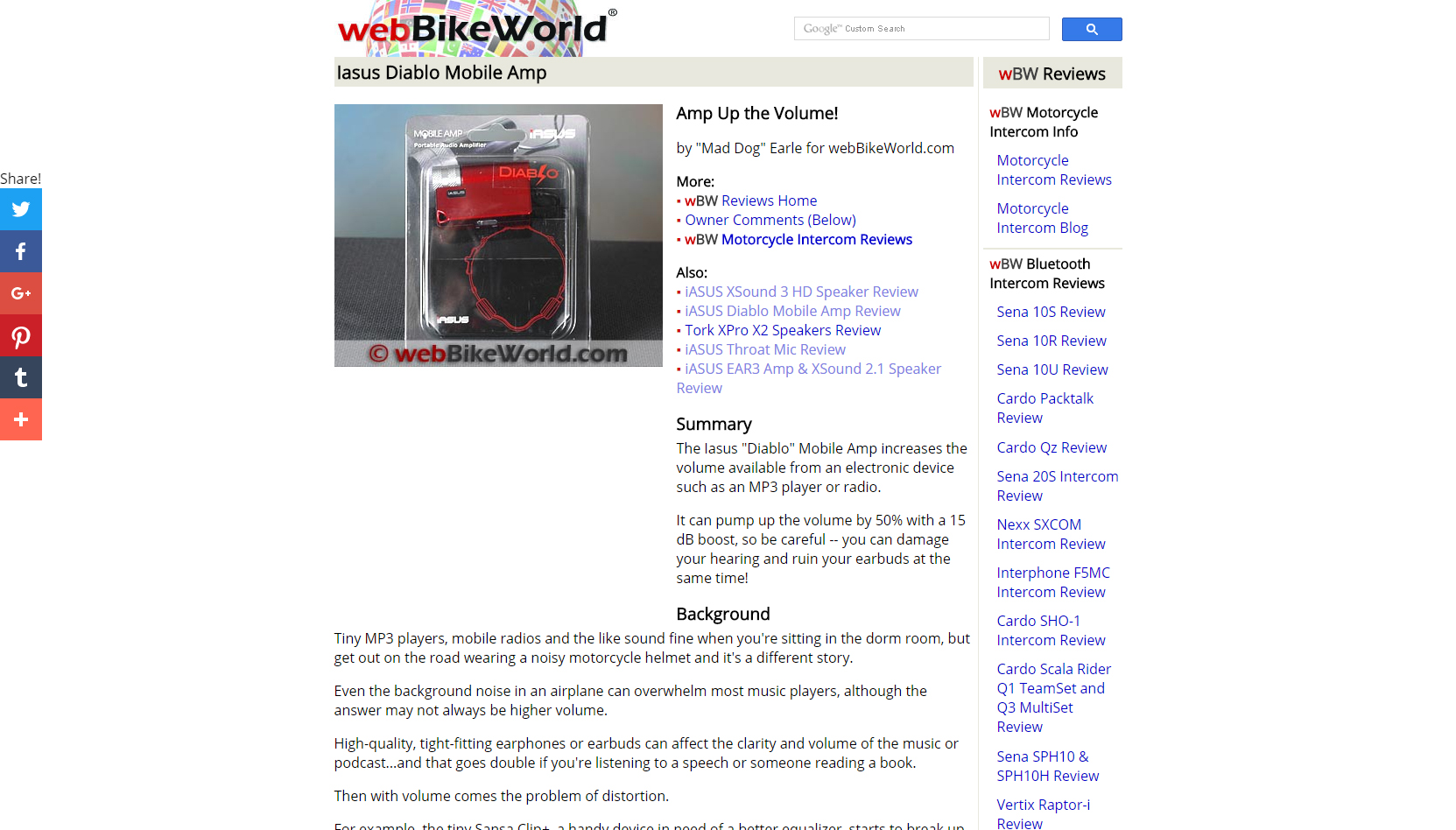 Diablo Mobile Amp on webBIKEWORLD