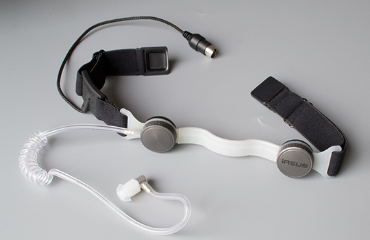 throat mic with earpiece