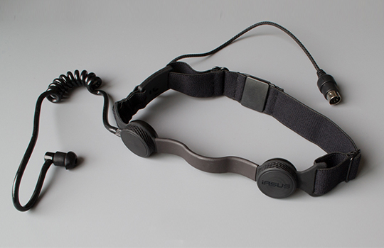 throat mic with acoustic coil earpiece