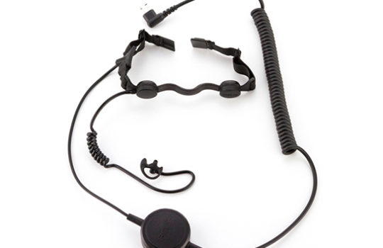 custom headset throat mic