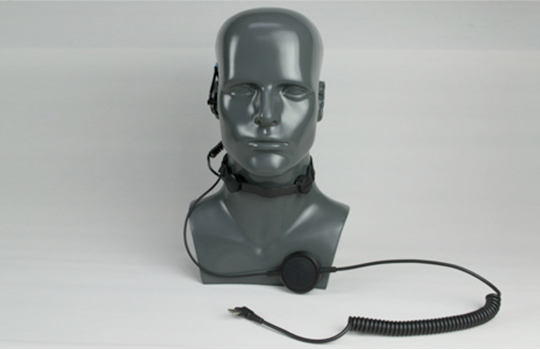custom hardwired throat mic