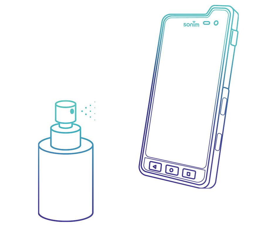 disinfect smartphone