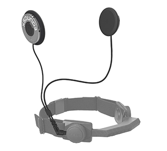 throat mic with helmet speakers