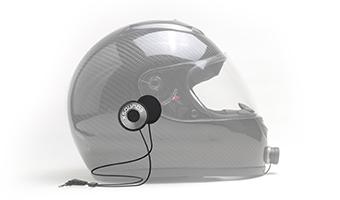 helmet speaker inside carbon fiber helmet