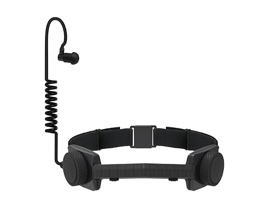bluetooth wireless throat mic acoustic coil black
